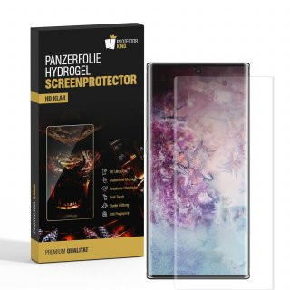 3x Panzerfolie für Samsung Galaxy Note 10 HYDROGEL FULL-COVER Displayschutz KLAR