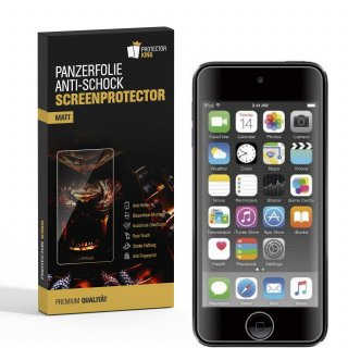 3x Panzerfolie für iPod Touch 7 ANTI-SCHOCK Displayschutz Displayfolie MATT